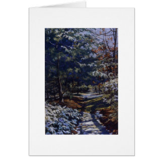 Snow in the Pines Card