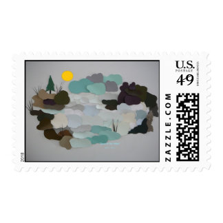 """""""Snow In The Valley"""" Postage"""