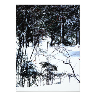 """Snow In The Woods 5.5"""" X 7.5"""" Invitation Card"""