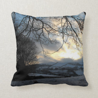 Snow in Wales by Alexandra Cook Throw Pillow