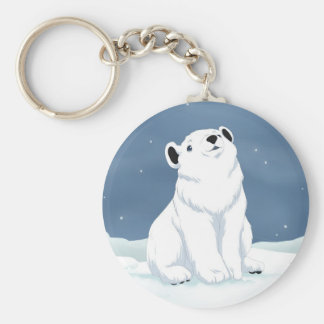 Snow is falling keychain