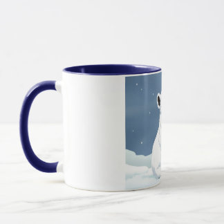 Snow is falling mug