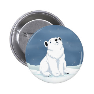 Snow is falling pinback button