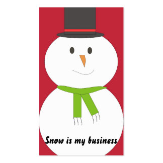 Snow is my Business Card