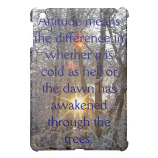 Snow - itude 2 Motivational Snow in Sunlight iPad Mini Cover