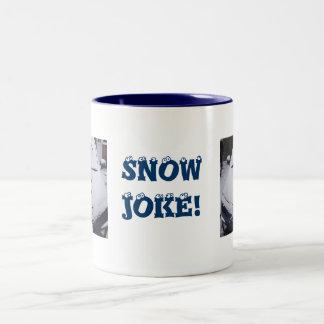 Snow joke Two-Tone coffee mug