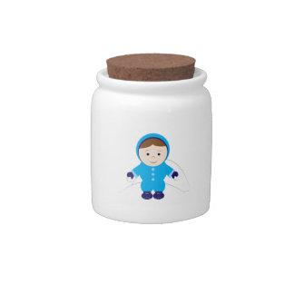 Snow Kid Candy Jars