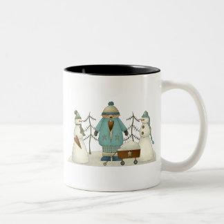 Snow Kids · Kid & Snowmen Two-Tone Coffee Mug