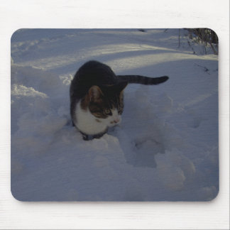 Snow Kitten Mouse Pad