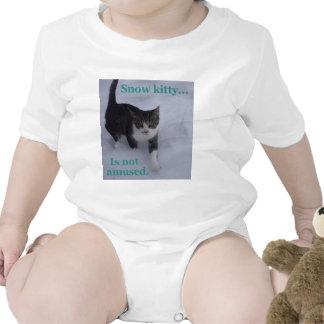 Snow Kitty Baby Bodysuits