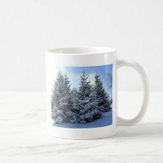 Snow Laden Evergreen Grouping Coffee Mug