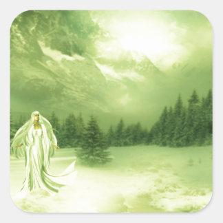 Snow Lady Square Stickers