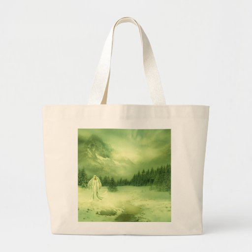 Snow Lady Tote Bags