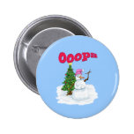 Snow lady with christmas tree OOps Pins