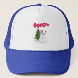 Snow lady with christmas tree OOps Trucker Hat