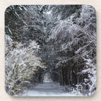 Snow Landscape Christmas coaster