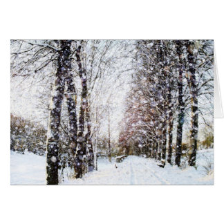 Snow Landscape Merry Christmas Card