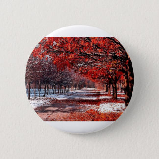 Snow & Leaves Button