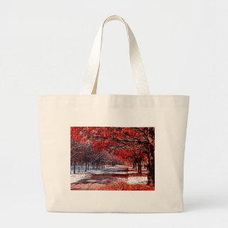 Snow & Leaves Large Tote Bag