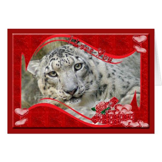 snow-leopard-00399 tarjeta de felicitación
