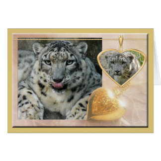 snow-leopard-00457 greeting card
