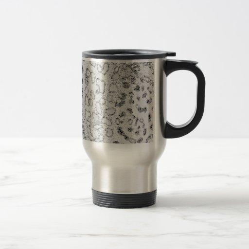 Snow Leopard 15 Oz Stainless Steel Travel Mug