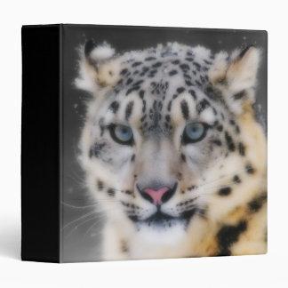 Snow Leopard 3 Ring Binder