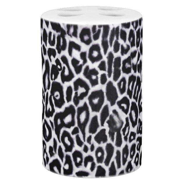 snow leopard animal print bathroom set zazzle
