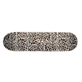 Snow Leopard Animal Print Custom Skateboard