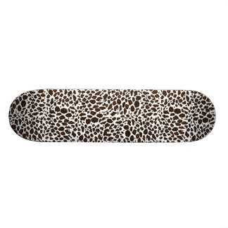 Snow Leopard Animal Print Custom Skateboard
