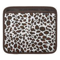 Snow Leopard Animal Print Sleeve For iPads