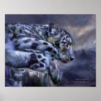 Snow Leopard Art Poster/Print