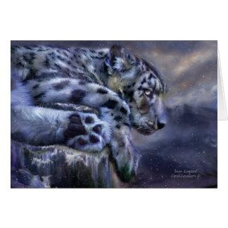 Snow Leopard ArtCard Greeting Cards