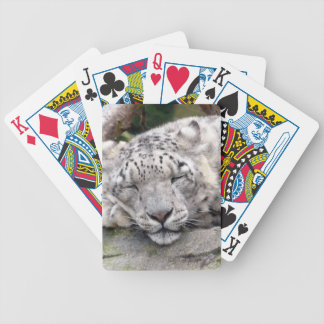 Snow Leopard - beautiful! Bicycle Playing Cards