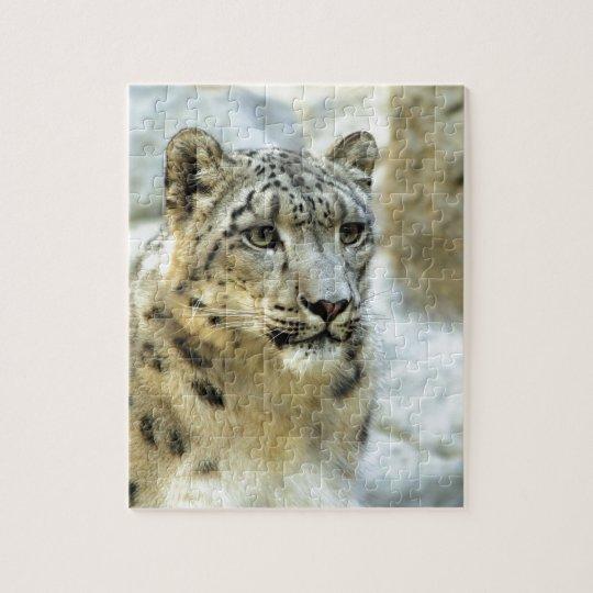 Snow Leopard Big Cat Design Jigsaw Puzzle