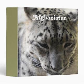 Snow Leopard Vinyl Binders