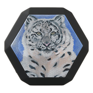 Snow Leopard Black Bluetooth Speaker