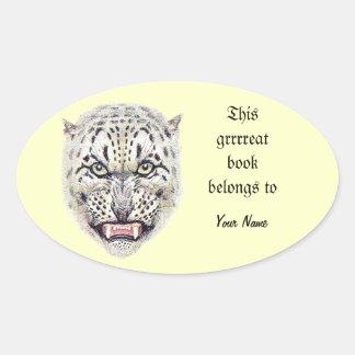 Snow Leopard Bookplate