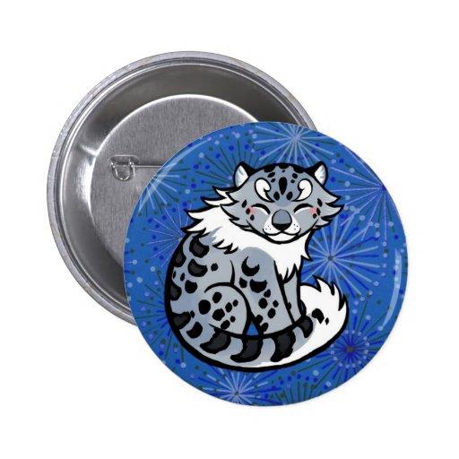 Snow Leopard Pinback Button