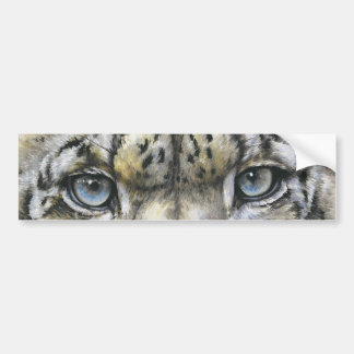 Snow Leopard Car Bumper Sticker