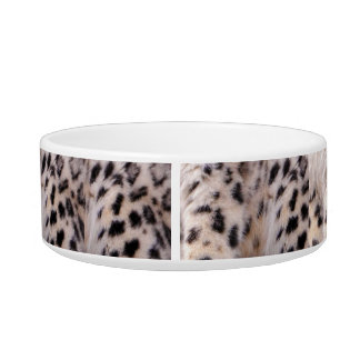 Snow Leopard Cat Food Bowl or