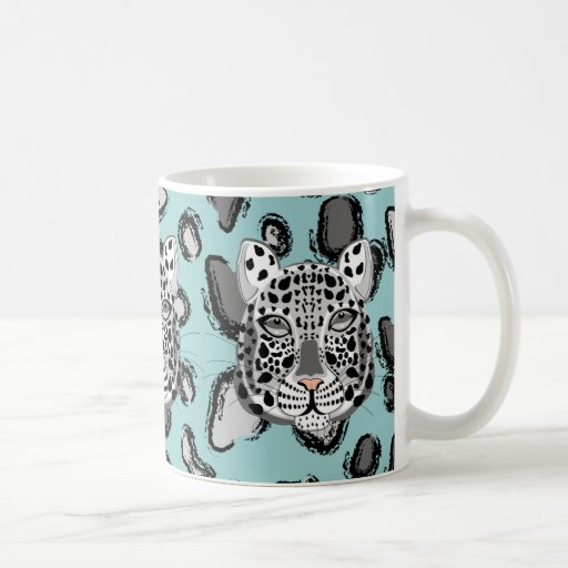 Snow Leopard Classic White Coffee Mug