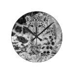 Snow Leopard Clock