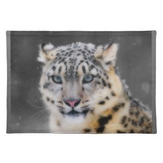 Snow Leopard Cloth Placemat