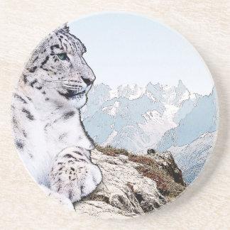 Snow Leopard Coaster