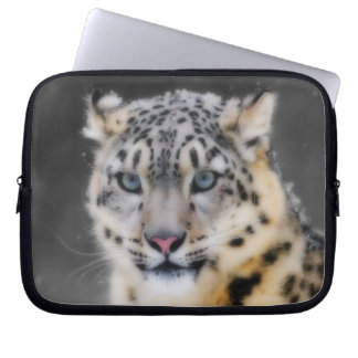 Snow Leopard Computer Sleeve