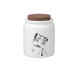 Snow Leopard Cub Infant T-Shirt Candy Jars