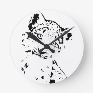 Snow Leopard Cub Infant T-Shirt Round Clock