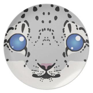 Snow Leopard Cub Plate