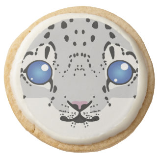 Snow Leopard Cub Shortbread Cookies